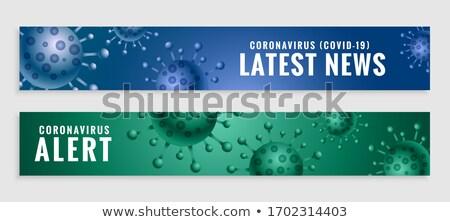 coronavirus covid19 latest news and alert banners set Stock photo © SArts