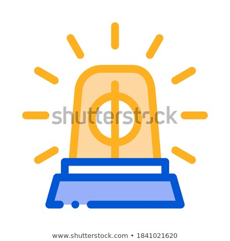Police Squad Car Alarm Icon Outline Illustration Stock photo © pikepicture