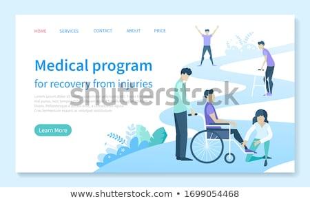 Klinik rehabilitasyon program tedavi tıbbi hizmetleri Stok fotoğraf © robuart
