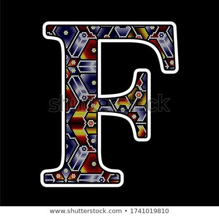 huichol art capital letter F Stock photo © hayaship