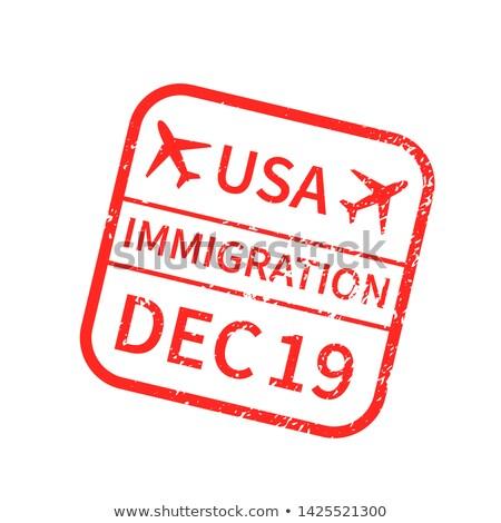USA nemzetközi utazás VISA bélyeg fehér Stock fotó © evgeny89