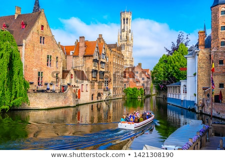 Brugge canal and old houses. Bruges, Belgium Stock photo © dmitry_rukhlenko