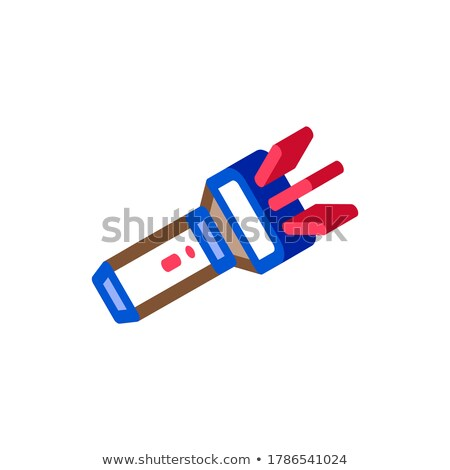 Person Pocket Flashlight isometric icon vector illustration Stock photo © pikepicture