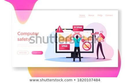 цифровой перегрузка посадка страница бежать Сток-фото © RAStudio
