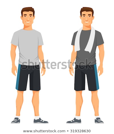 sporty athlete man Stock photo © Maridav