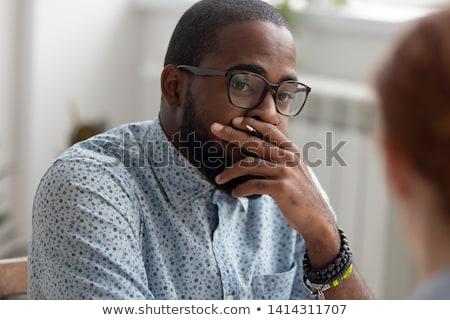 бизнесмен скептицизм рук бедра скептический Сток-фото © lisafx