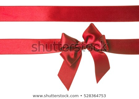 Red satin ribbon Stock photo © iko