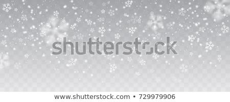 Flocos de neve azul feliz neve arte Foto stock © toponium