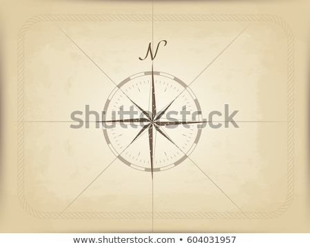 antique paper and compass stock photo © alphababy