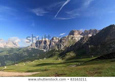 Saas Pordoi and Fassa Valley Stock photo © Antonio-S