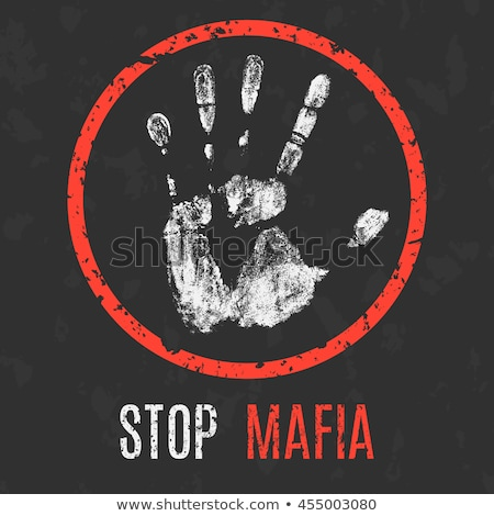 mafia and organized criminality activity icons stock photo © stoyanh