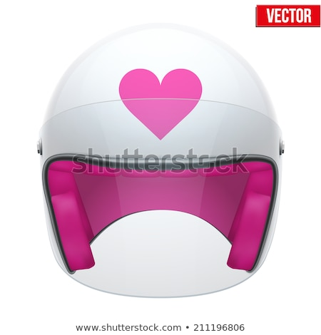 biker girl in a helmet stock photo © cookelma