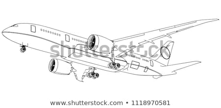 plane contour stock photo © pavelmidi