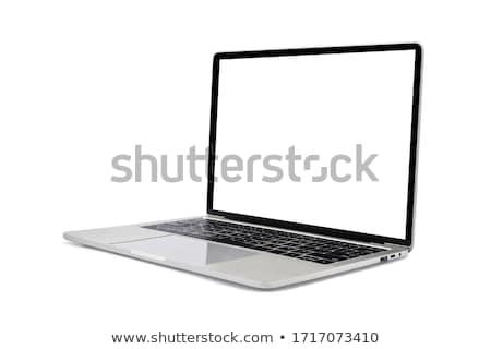 Stock photo: Aluminum laptop