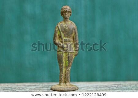 Nostalgiczny żołnierz rzeźba studio fotografii Zdjęcia stock © prill