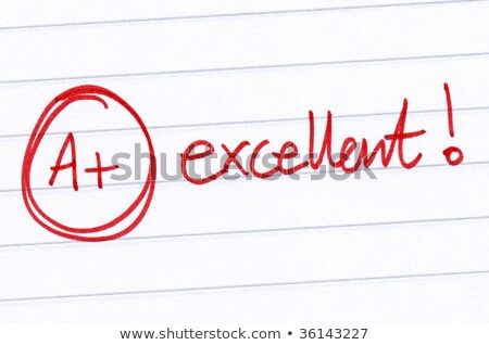 A+ grade written on a test paper. Stock photo © latent