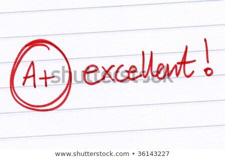 プラス · 書かれた · 赤 · ペン · ノートブック · 紙 - ストックフォト © latent
