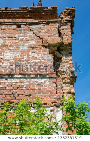 The old dilapidated building of red bricks Stock photo © Traven