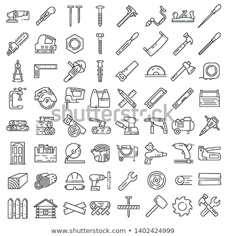 Icono industria aislado blanco gradiente Foto stock © LoopAll