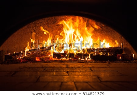 Stock photo: Cook pizzas warm