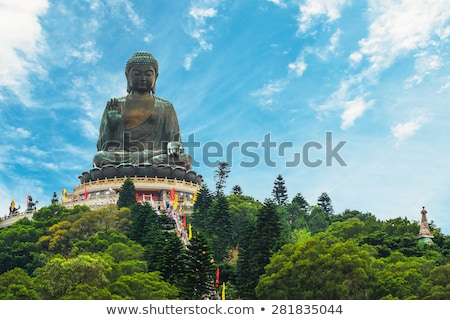 tian tan buddha   hong kong stock photo © jeayesy