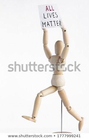 マネキン · ブランクカード · 孤立した · 白 · ビジネス - ストックフォト © creisinger