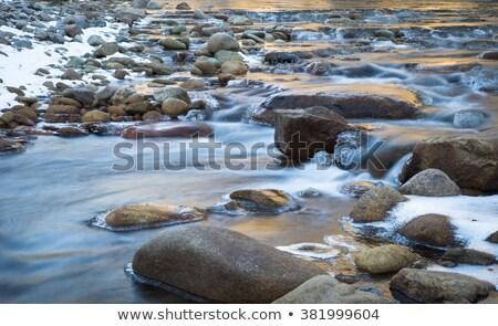 água · gelo · para · baixo · parede · vertical - foto stock © peterveiler