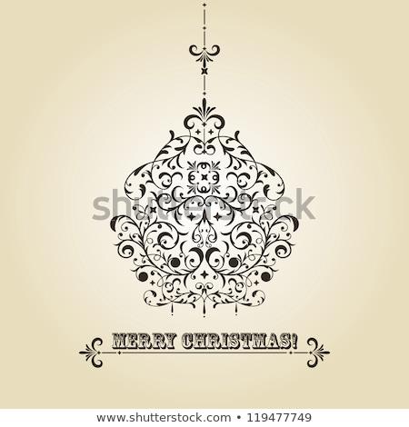 элегантный · Рождества · мяча · приветствие · прибыль · на · акцию · вектора - Сток-фото © beholdereye