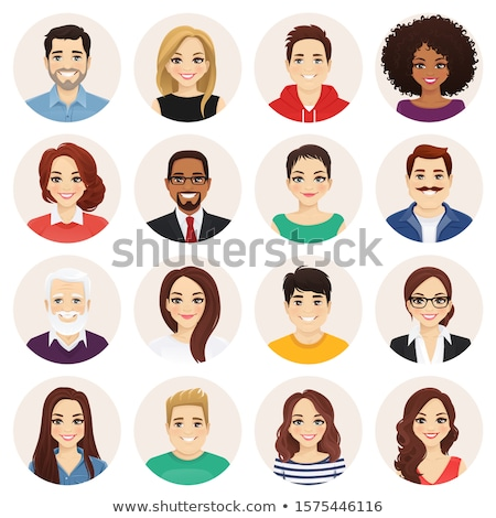 people faces vector icon set Stock photo © beaubelle