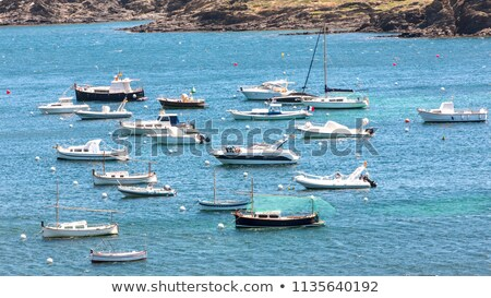Small Boats Moored In Inlet Stock photo © peterveiler