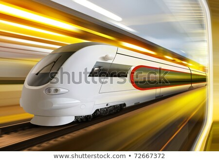 super streamlined train on rail Stock photo © ssuaphoto