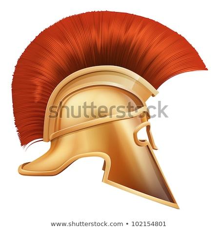 Zdjęcia stock: Roman · maskotka · głowie · kask · cartoon · wektora