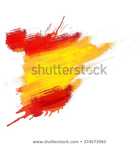 スペイン国旗 · グランジ · スペイン語 · フラグ · 塗料 · 壁 - ストックフォト © hypnocreative