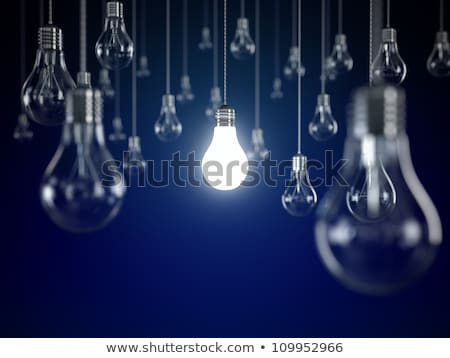 One lit light bulb Stock photo © digitalstorm