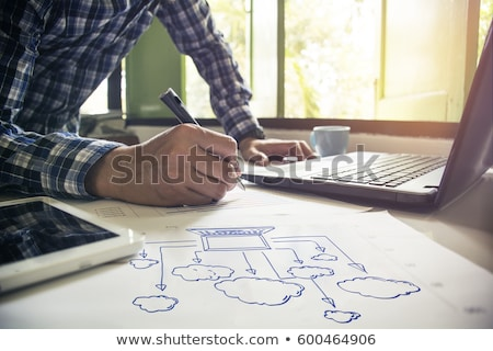 cloud computing diagram Stock photo © REDPIXEL