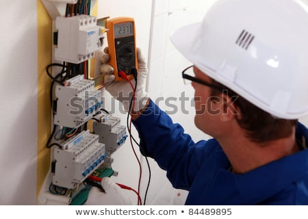 Electrical inspector reading power output Stock photo © photography33