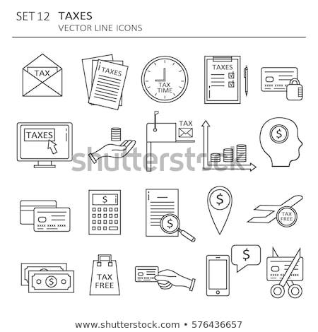 税 無料 世界的な 頭字語 書かれた 黒板 ストックフォト © bbbar