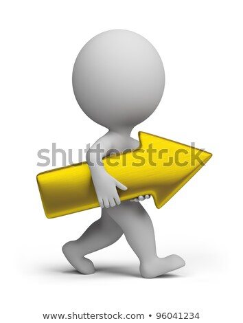 3d small people - golden arrow stock photo © AnatolyM