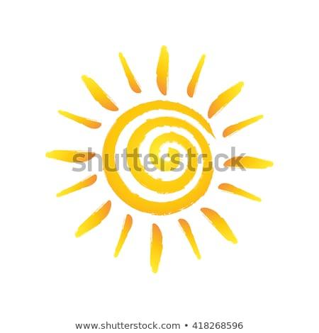 Güneş spiral basit suluboya örnek soyut Stok fotoğraf © Galyna