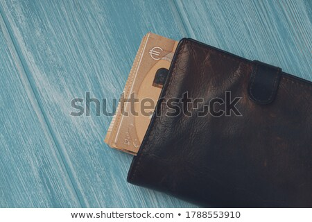 Black Wallet Containing Euro Notes Stock photo © stuartmiles