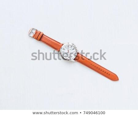 Pánt karóra divat biztonság férfiak idő Stock fotó © inxti