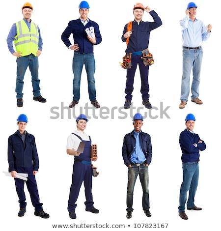 Ritratto muratore falegname uomini squadra martello Foto d'archivio © photography33