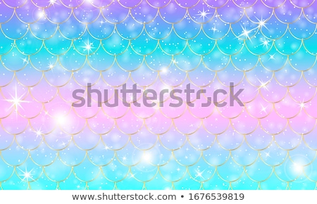 Photo stock: Beautiful Golden Mermaid Vector Illustration