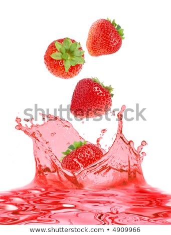 The strawberry falls in own juice Stock photo © ozaiachin