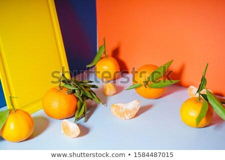 мандарин оранжевый разделочная доска свежие сочный апельсинов Сток-фото © klsbear