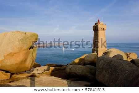 deniz · feneri · beyaz · iyi · ahşap - stok fotoğraf © phbcz