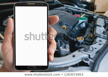 Mechanic showing mobile phone Stock photo © photography33