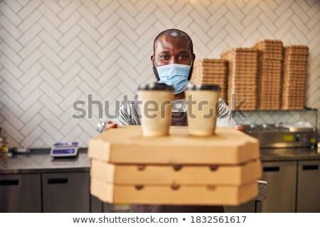 Mannelijke pizzeria werknemer man restaurant kaas Stockfoto © photography33