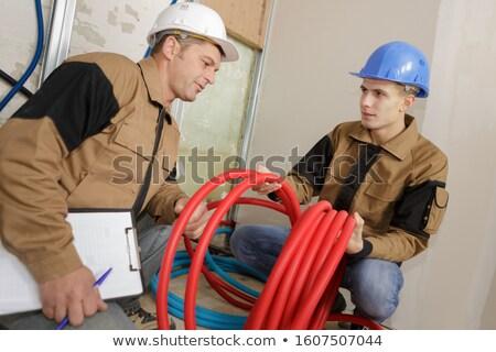 apprentice plumber training on-the-job Stock photo © photography33