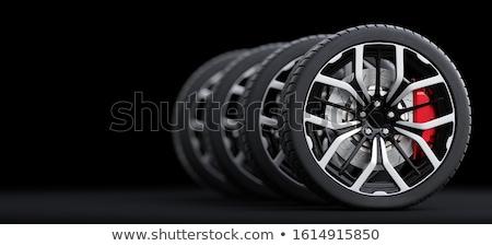coche · aleación · rueda · aislado · blanco - foto stock © stocksnapper